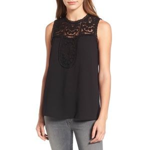 HALOGEN LACE & CREPE TOP ♥️IN STORES♥️